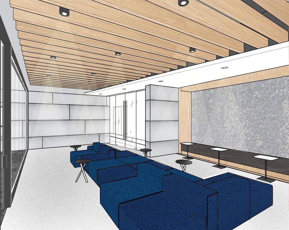 rendering of skanska office at Capitol Tower
