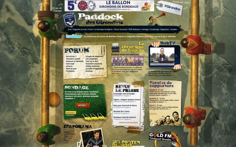 Le paddock des Girondins : site officiel des supporteurs du club de football des Girondins de Bordeaux.