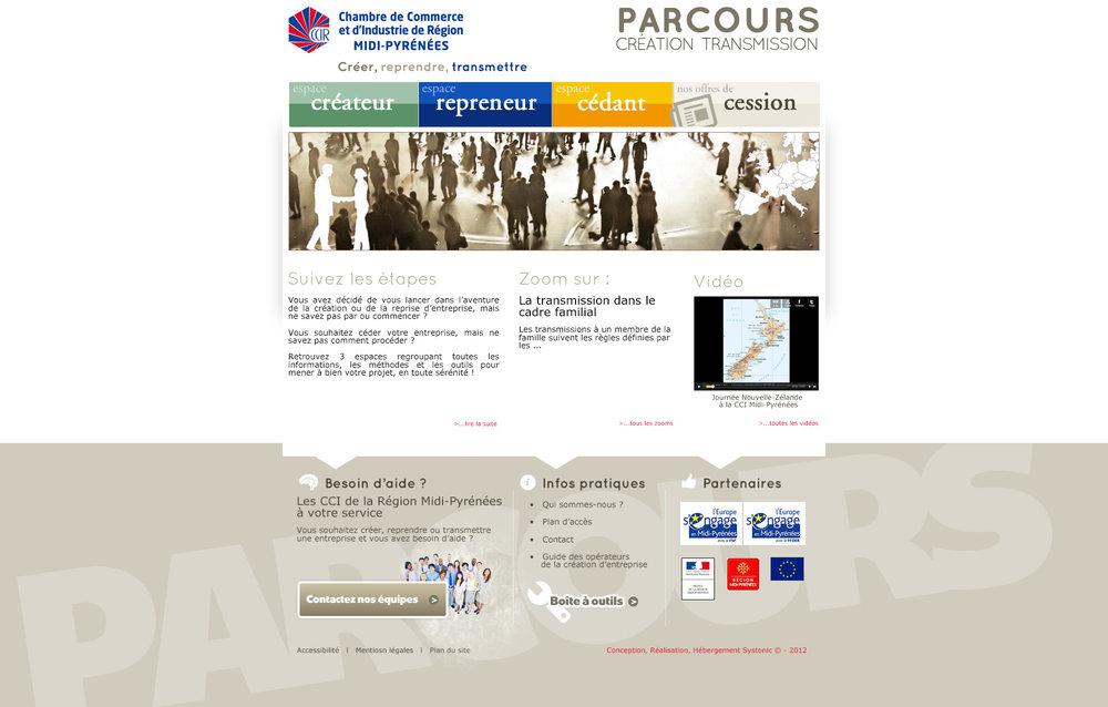 CCI Midi-Pyrénées : Parcours Création Transmission