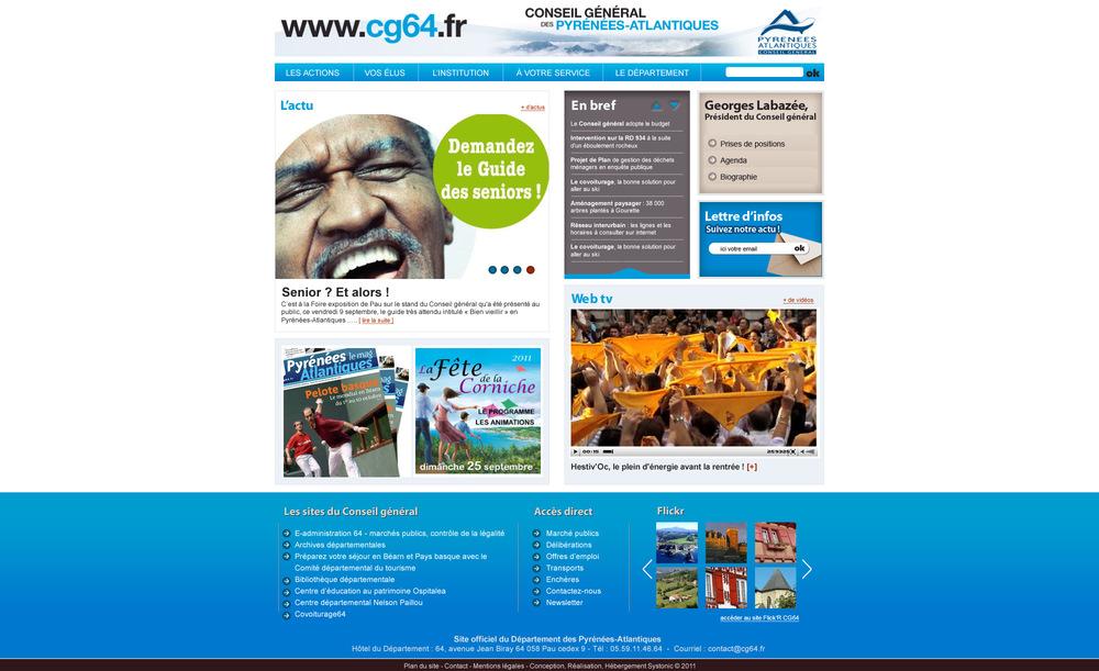 CG 64 : site officiel du Conseil Général des Pyrénées Atlantiques (64).