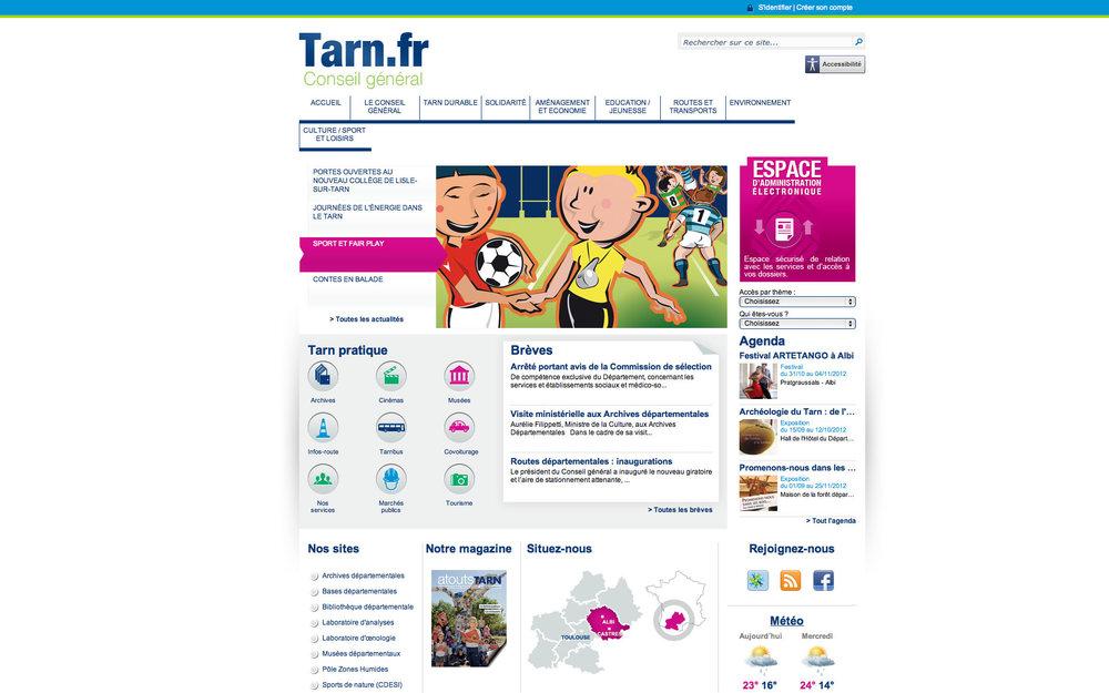CG Tarn : site officiel du Conseil Général du Tarn.