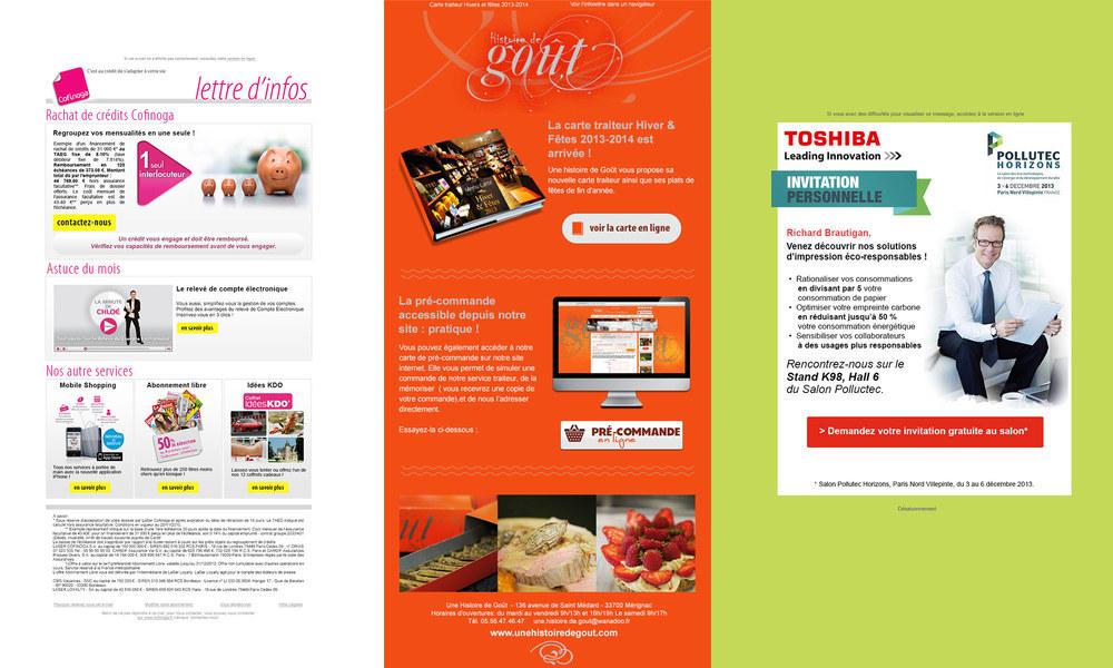 Cofinoga, UNe histoire de Goût traiteur, Toshiba.