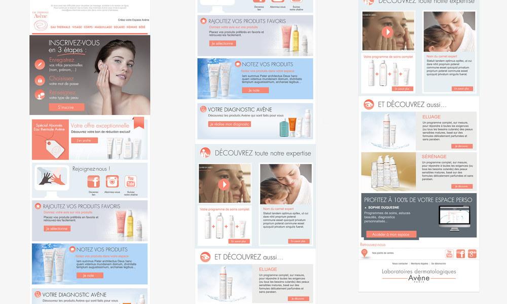 avène : infolettre pour la marque de cosmétique Avène