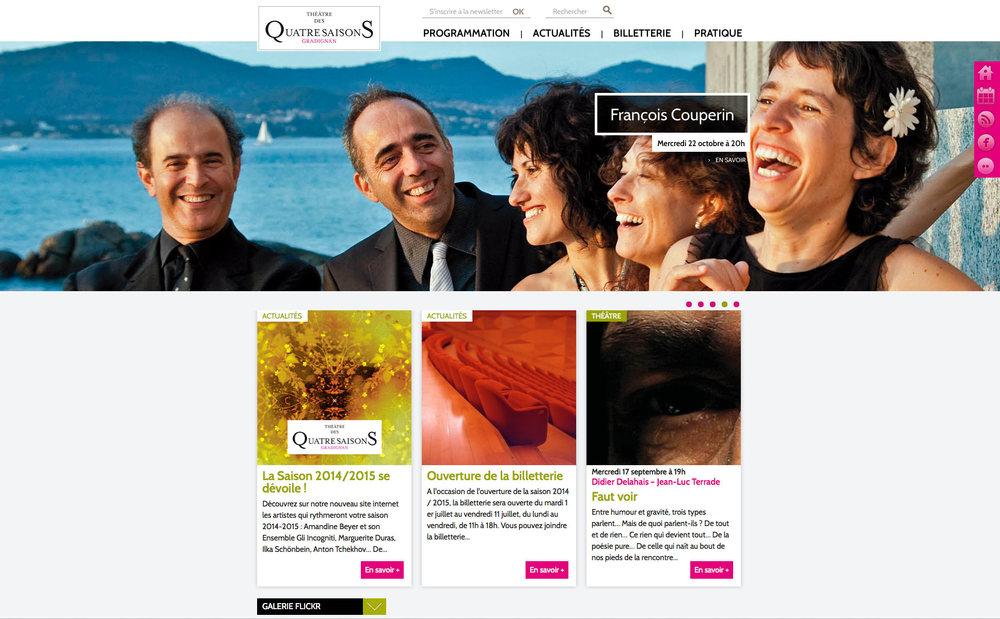 """Théâtre des 4 Saisons de Gradignan : nouveau site """"responsive et chartesive"""" :-) !"""