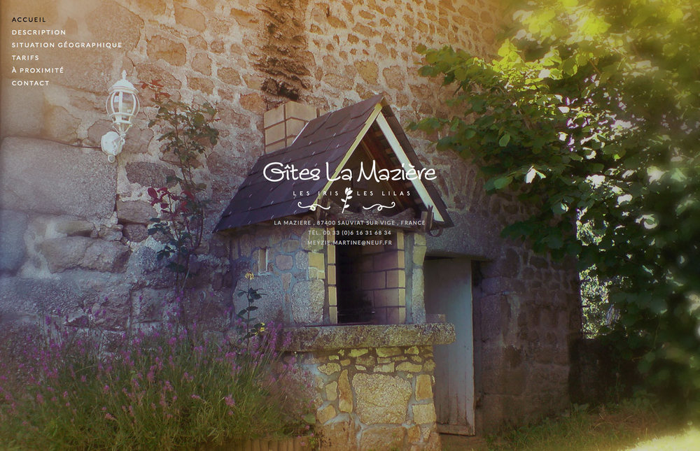 Gîtes La Mazière - Les Iris - Les Lilas : un gîte de grande capacité, proche de Limoges, traduit en plus de 80 langues : merci Google !