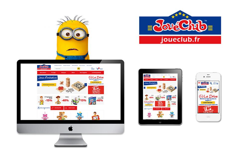 Jouéclub : webdesign responsive pour le site marchand de JouéClub.