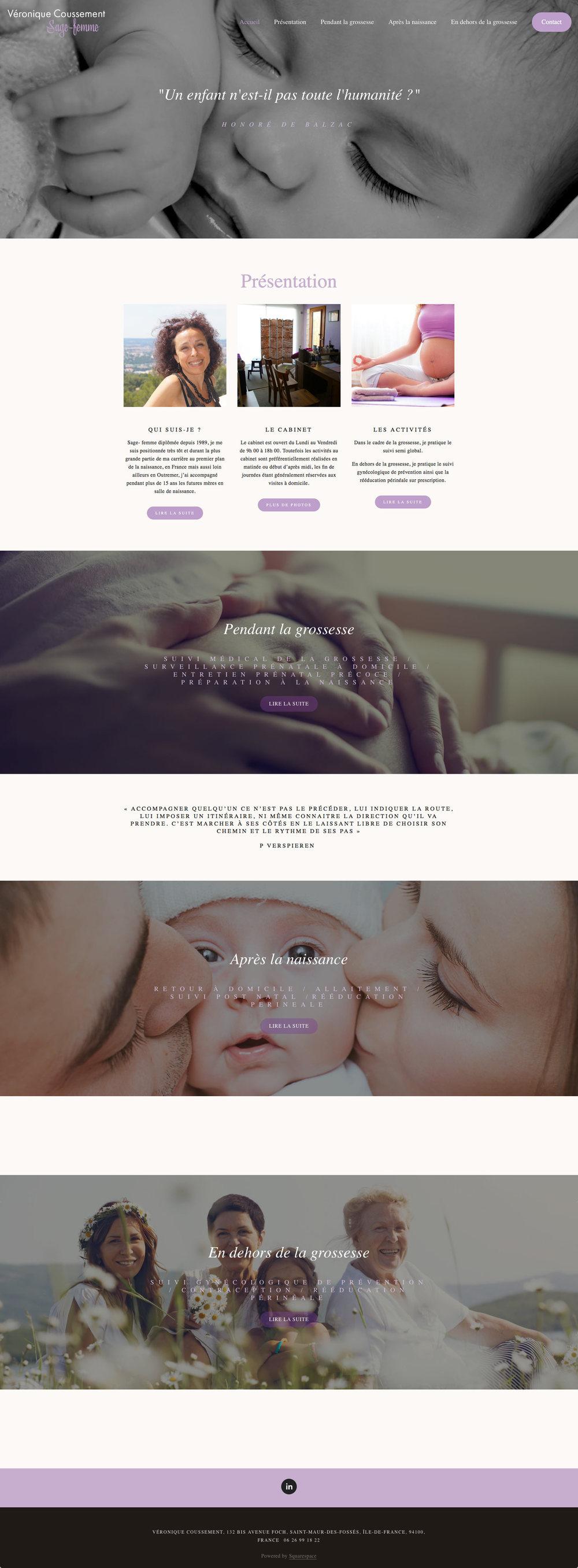 Sagefemmesaintmaur.com : naissance sans douleur pour ce délicat site.