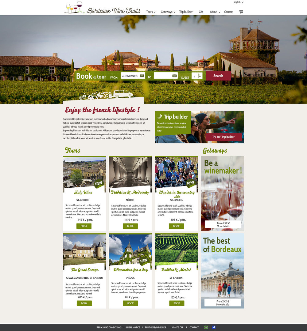 Bordeaux Wine Trails : webdesign du site