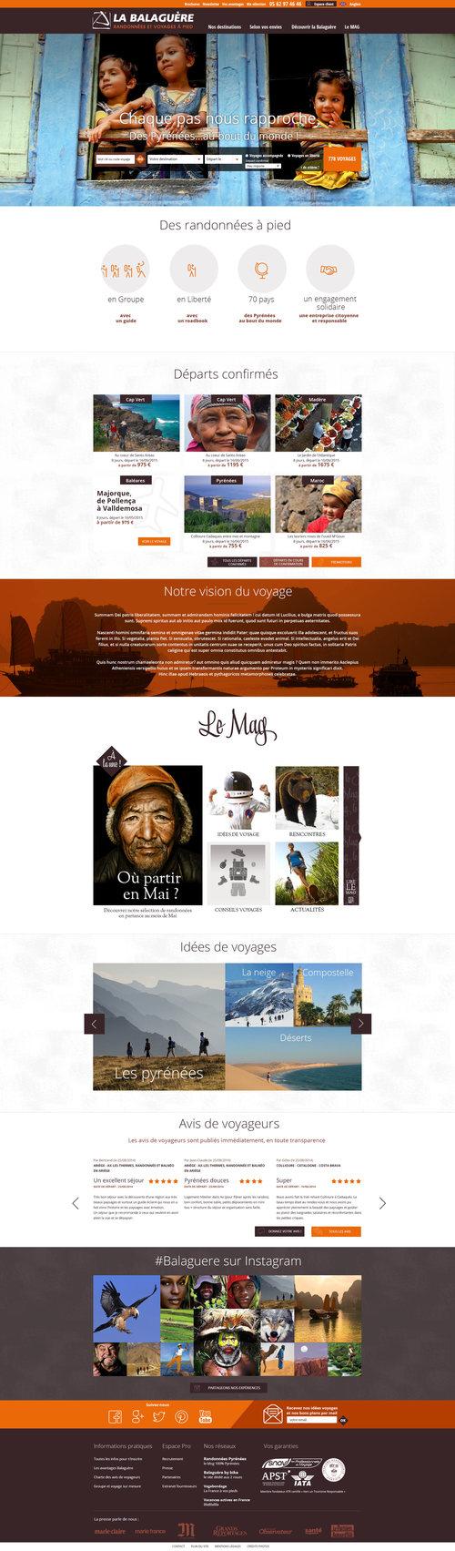 La Balaguère : webdesign du site de randonnée.