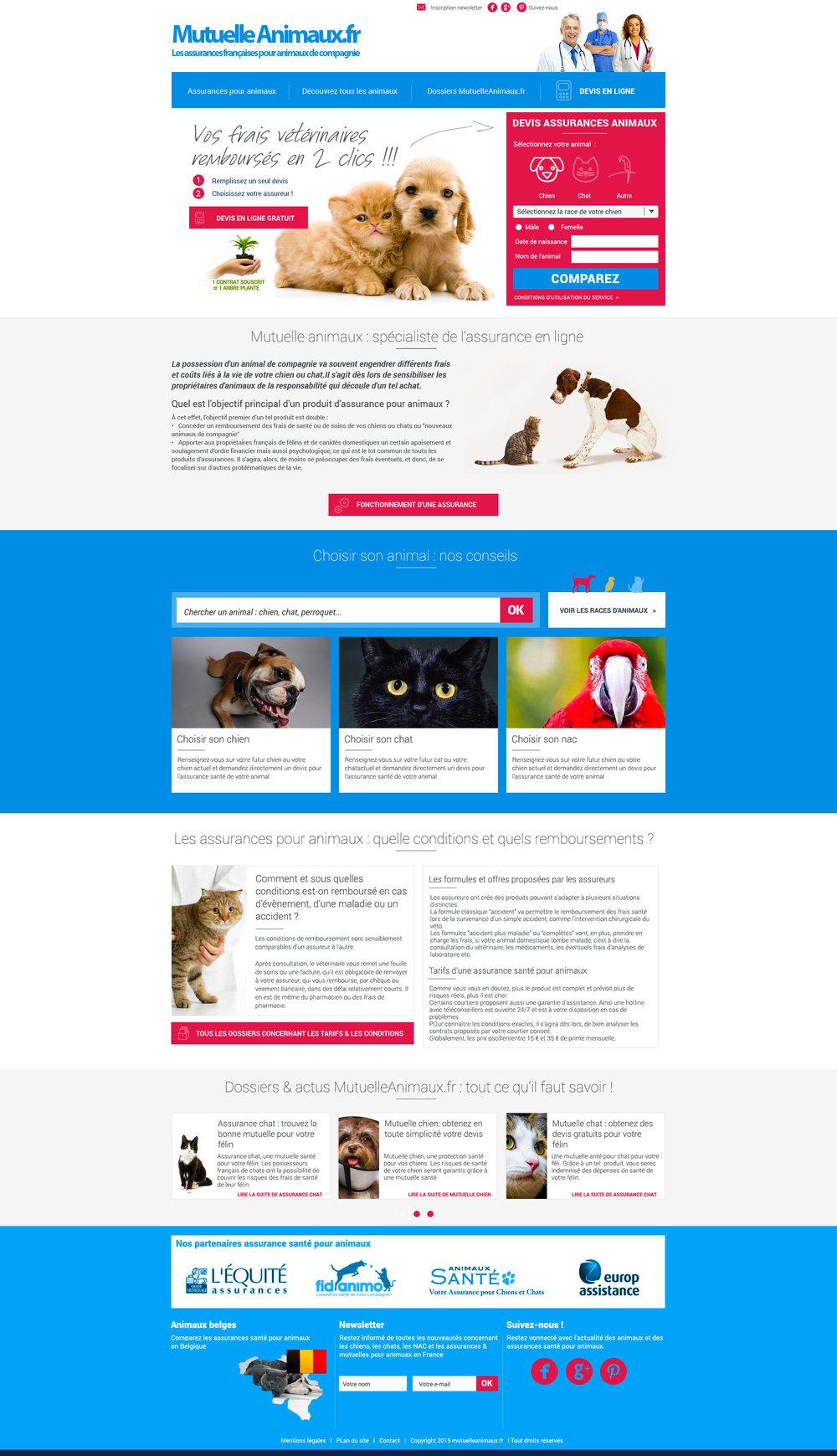 Mutuelleanimaux.fr : webdesign du site
