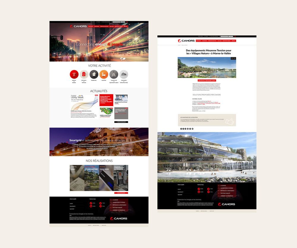 Webdesign GROUPE CAHORS