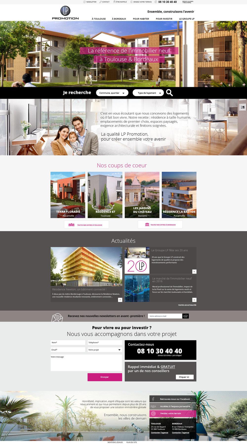 LP PROMOTION, promoteur immobilier à Toulouse et Bordeaux