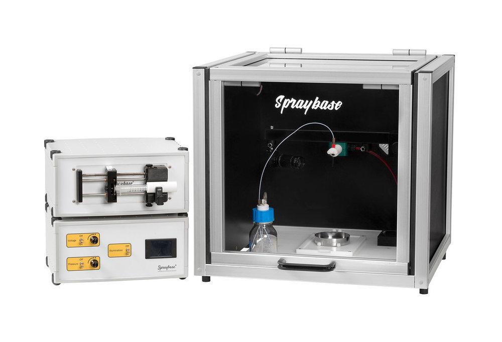 Electrospinning+electrospraying+spraybase