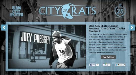 City Of Rats Mini-Site