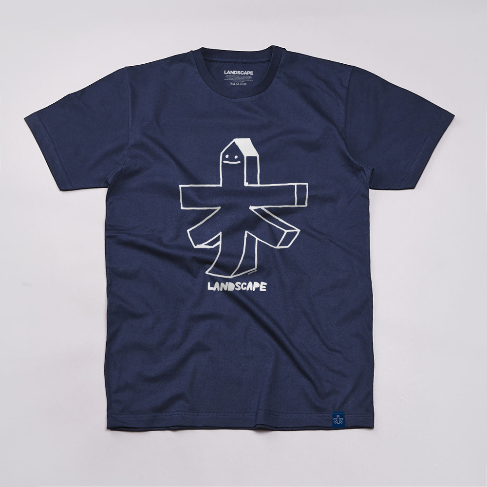 STEFAN MARX SKATEABLE. Chest print. Navy/White