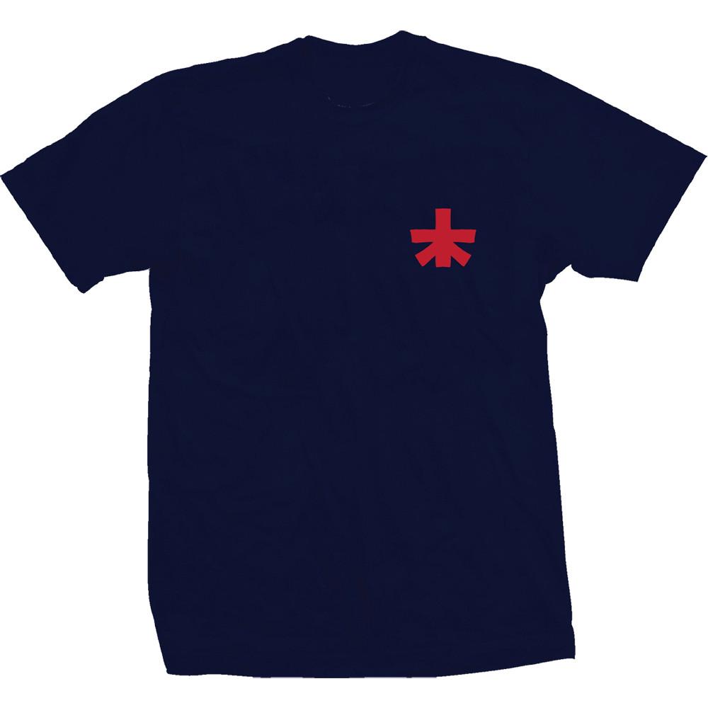 """Landscape """"Block"""" Navy T Shirt (Front)"""