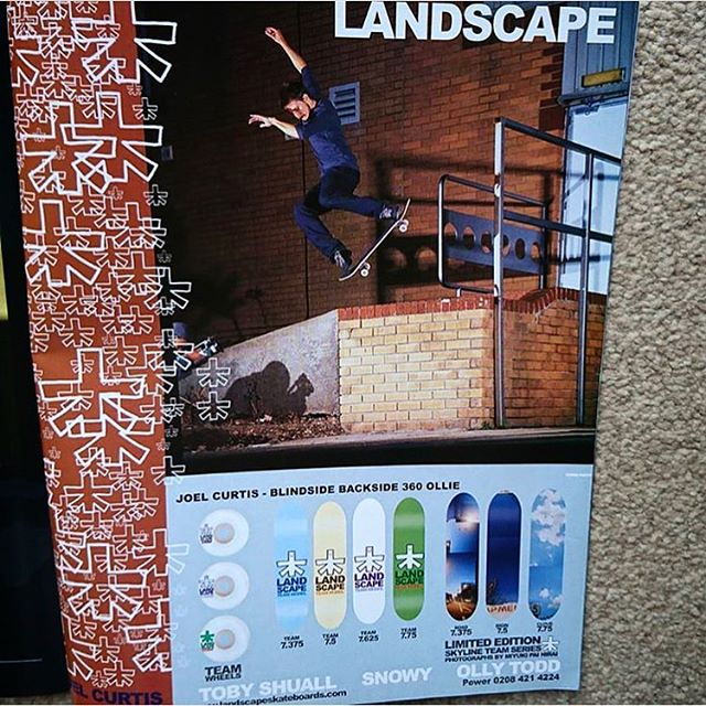 Some old ads via @crelinsworld featuring legends @ollytodd @joelcurtis #landscapeskateboards #ukskateboarding #7.375 #landscapeads