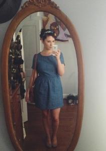 Bethel Prescott in her selfie debut.