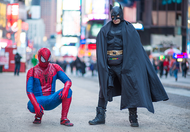The toe shoes on Spiderman are too legit to quit. Ditto for Batman's fanny pack.