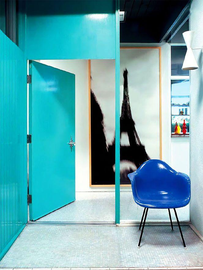 Cadeira azul royal