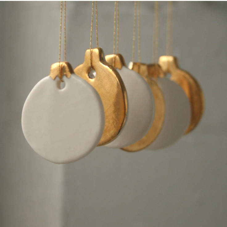 Mini porcelain ornaments :  etsy store