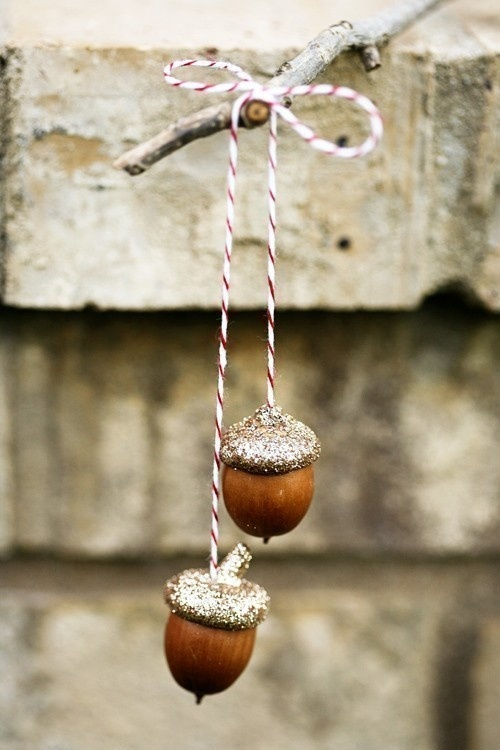 Golden Acorns ornaments