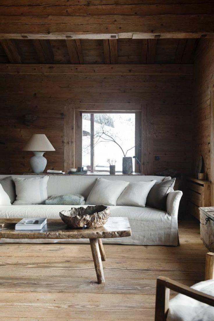 Cabin Living Room Design By Axel Vervoordt