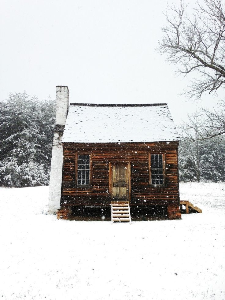 Snowed cabin