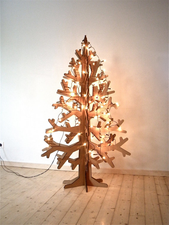 Recycled cardboard christmas tree -  etsy shop