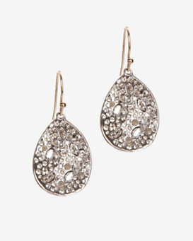 Alexis Bittar Crystal Encrusted Rhodium Small Drop Earrings.