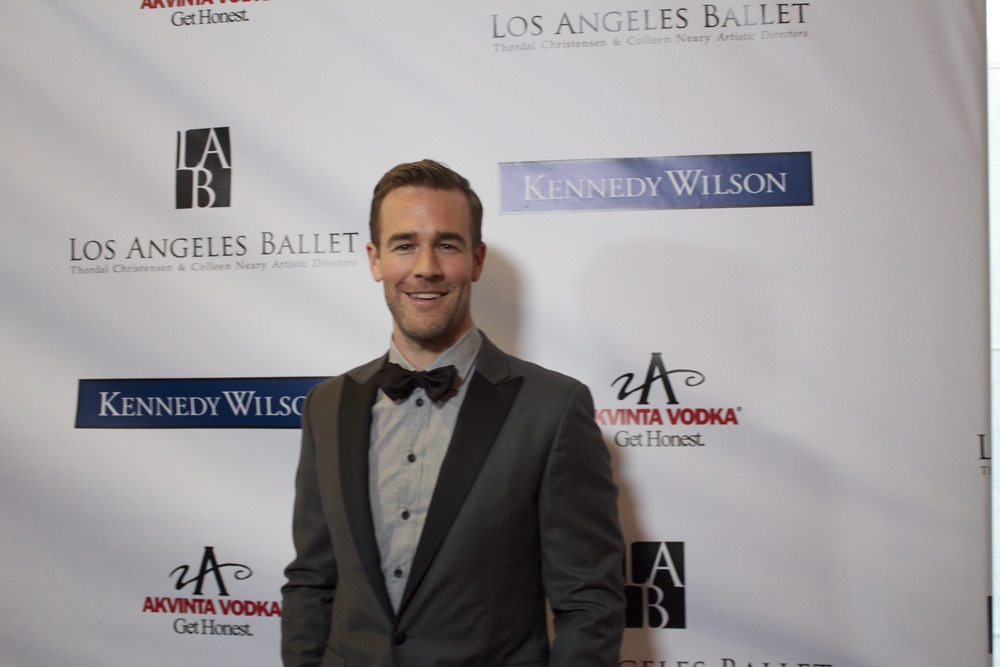 James Van Der Beek supporting the Los Angeles Ballet