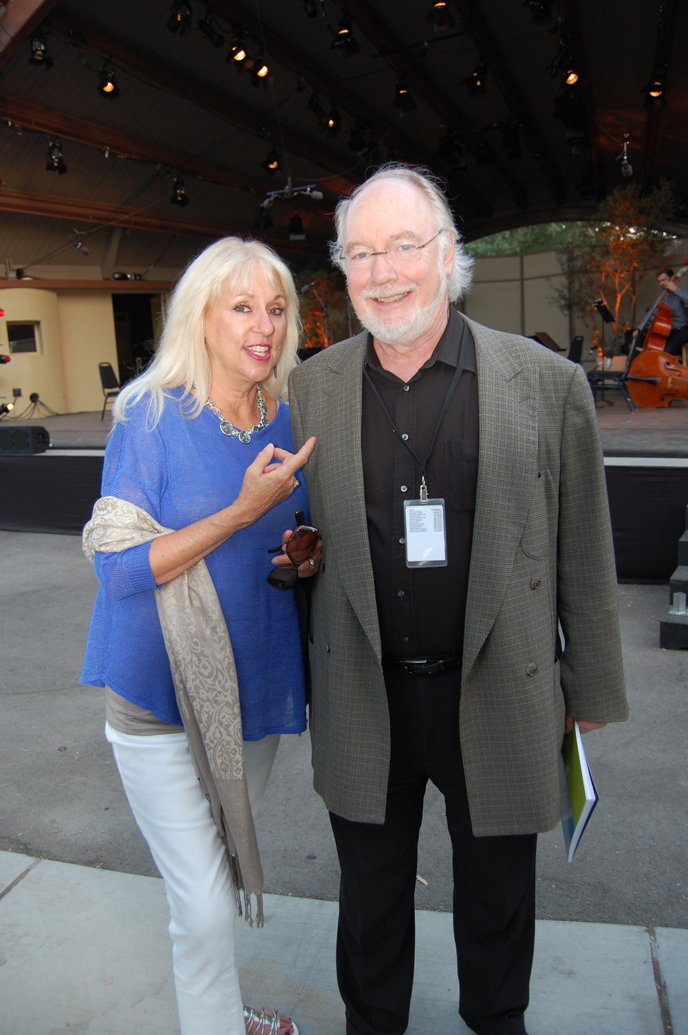Ojai Music Festival Artistic Director Thomas W. Morris and guest.