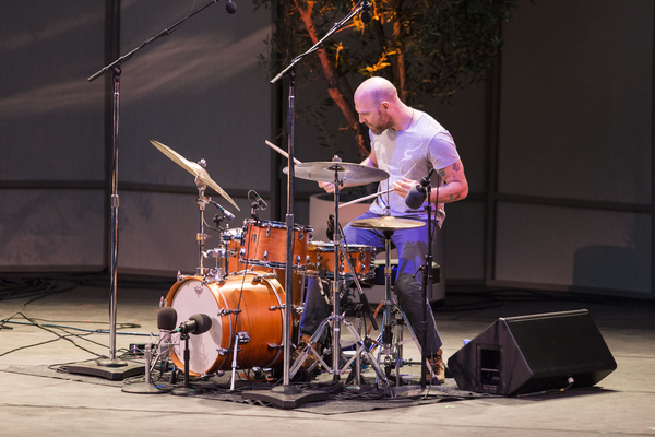 Photo Credit Timothy Norris    Drummer David King of The Bad Plus performs at Libbey Bowl on June 6, 2013 in Ojai, California.