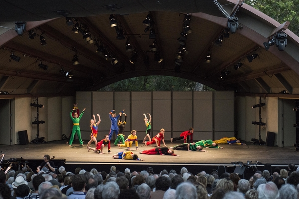 "Photo Credit Timothy Norris    Mark Morris Dance Group perfoms ""Empire Garden"" at Libbey Bowl on June 7, 2013 in Ojai, California."