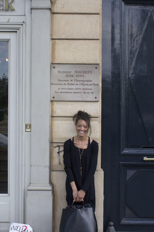 Me in Paris at Rudolf Noureev's final resting place