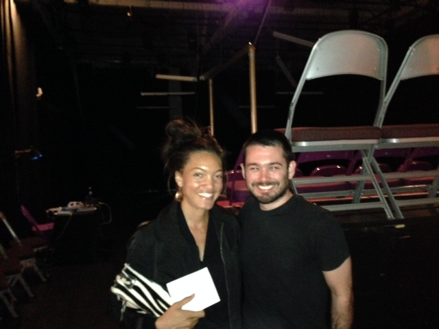 Here I am post-performance along with one of my favorite lighting designers AJ Munie.
