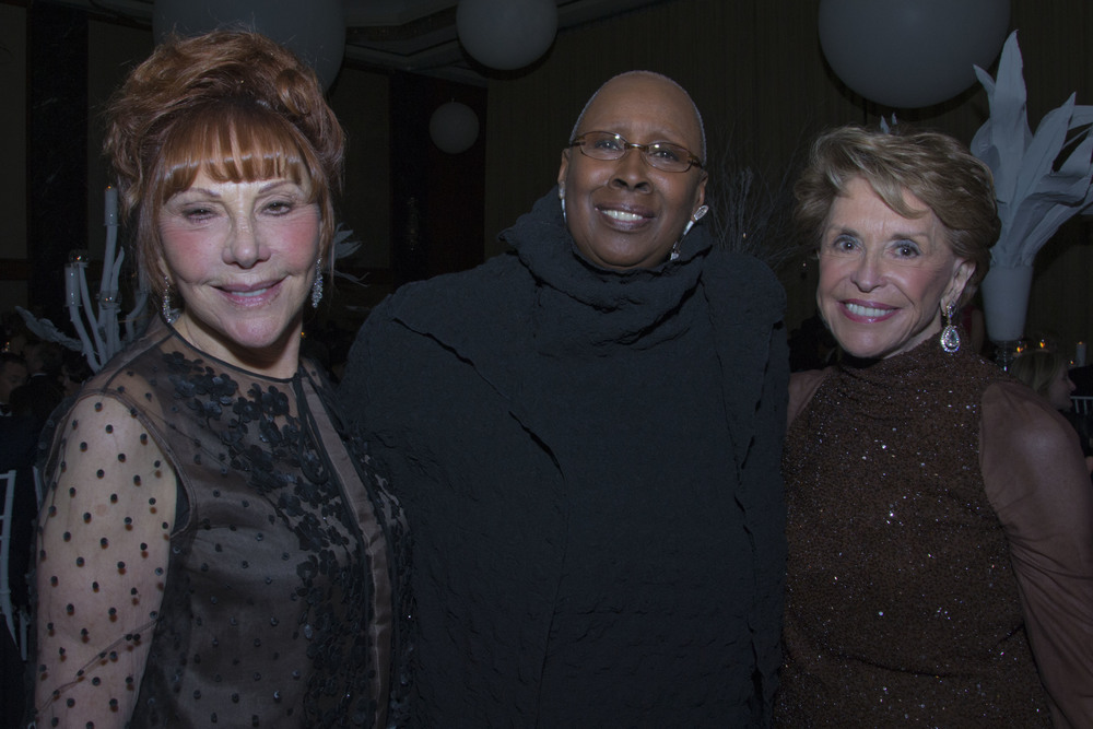 Glorya Kaufman, Judith Jamison, and Joan Weill at Ailey's Openinig Night Gala.  Photo by Derek Daniels