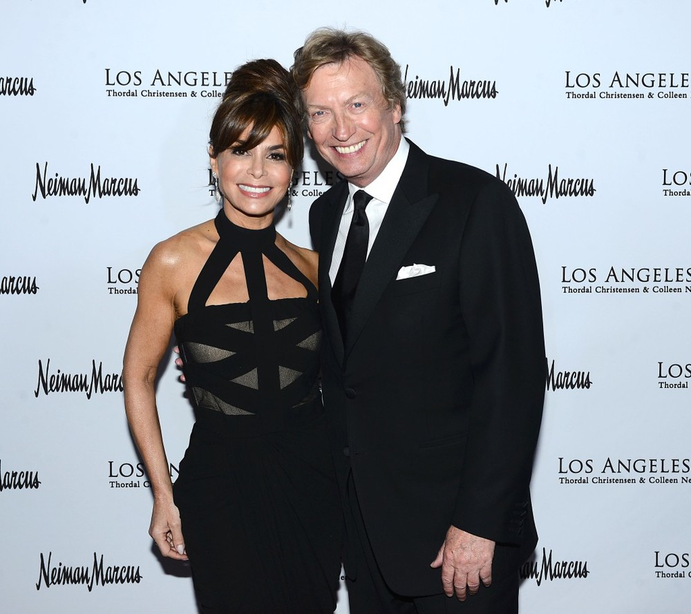 Paula Abdul with Nigel Lithgoe.  Photo Credit Brian Lindensmith