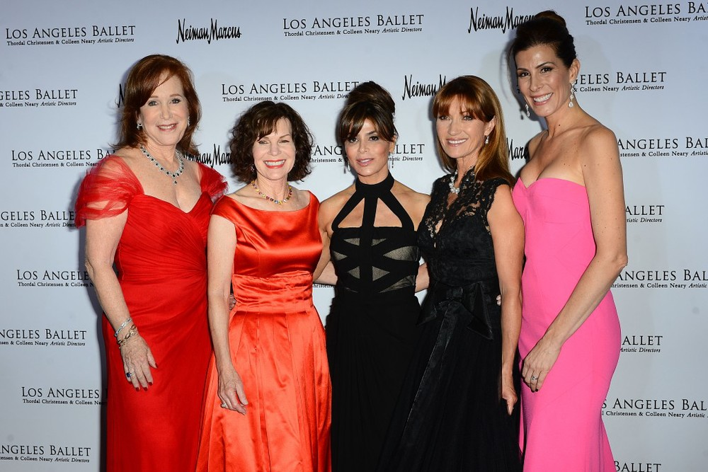 L-R  Leslie Kavanaugh, Lori Milken, Paula Abdul, Jane Seymour and Kirsten Sarkisian.  Photo Credit Brian Lindensmith.
