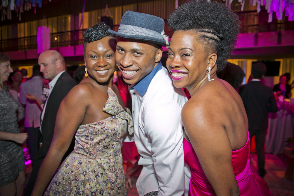 Alvin Ailey American Dance Theater's Jeroboam Bozeman and Guests at the Ailey Spirit Gala at Lincoln Center.  Photo by Whitney Browne