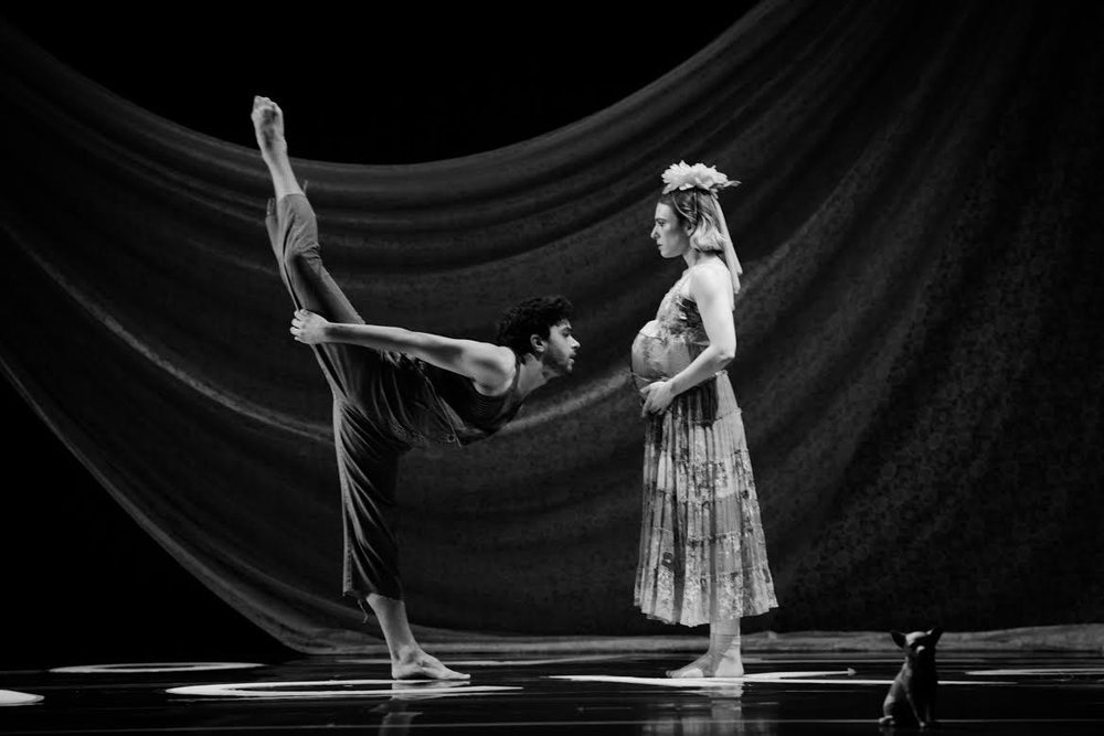 Dancers Tina Berkett and Joseph Davis. Photo credit: Joshua Sugiyama.