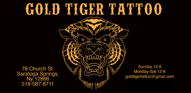 GOLD TIGER TATTOO