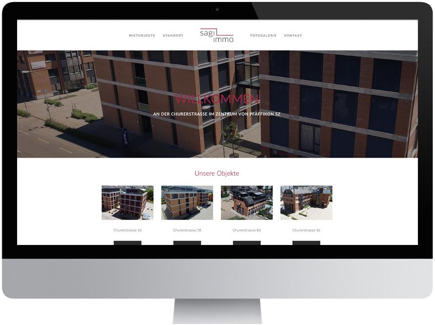 Neue Webseite und Logodesign für die Sagi-Immo durch die bite47 GmbH