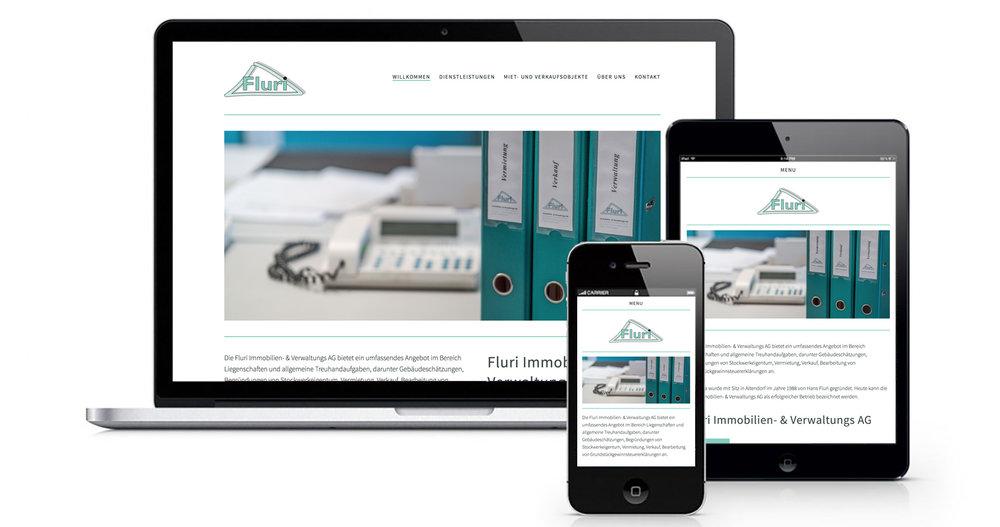 Neuer Webauftritt für die Fluri Immobilien -und Verwaltungs AG