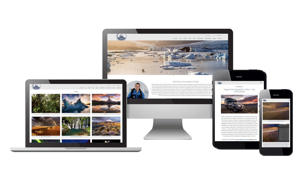 Squarespace Webseite u. Support für Profi Fotograf Stefan Forster