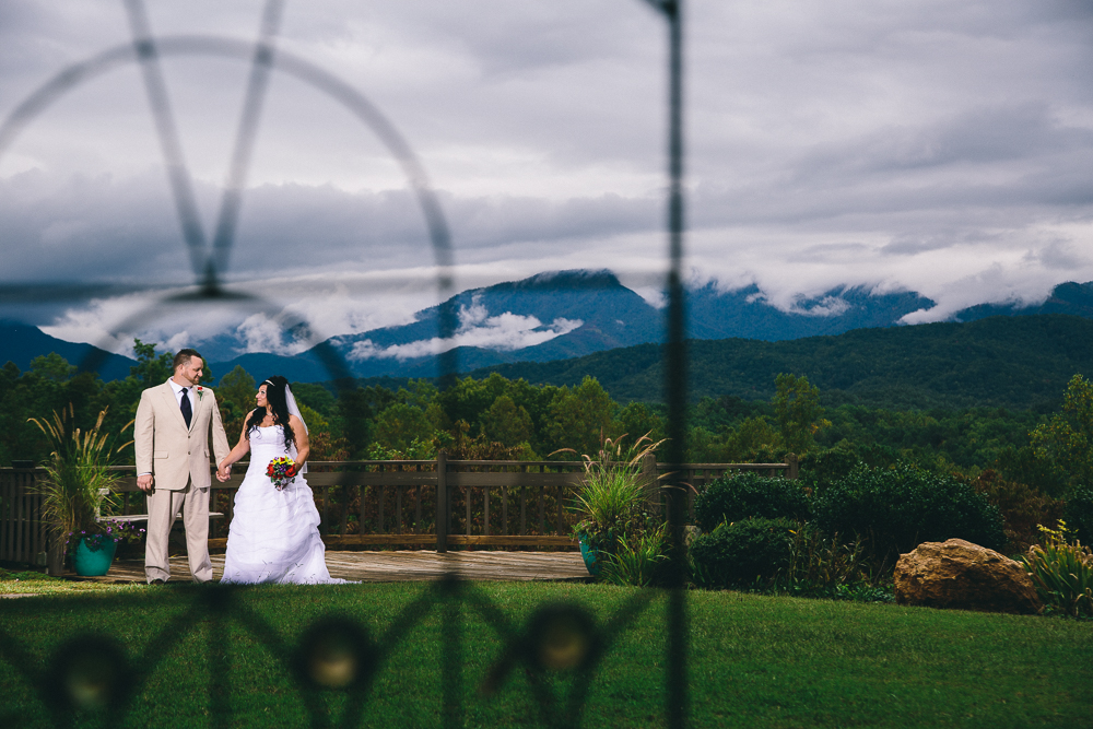 Imagine this backdrop for your Smoky Mountain Wedding ceremony in Gatlinburg TN