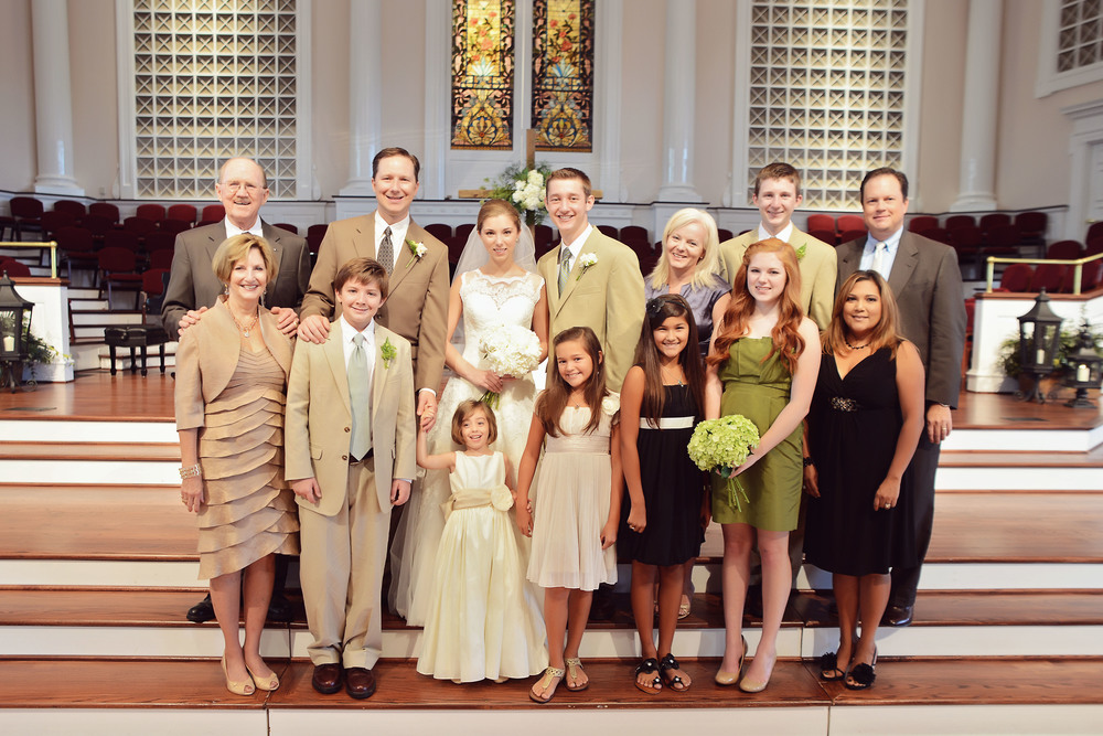 Steve and Sally and 12 of their 13 descendants at Lindsey's wedding a year ago. Caleb (descendant #13) would arrive 9 months later.
