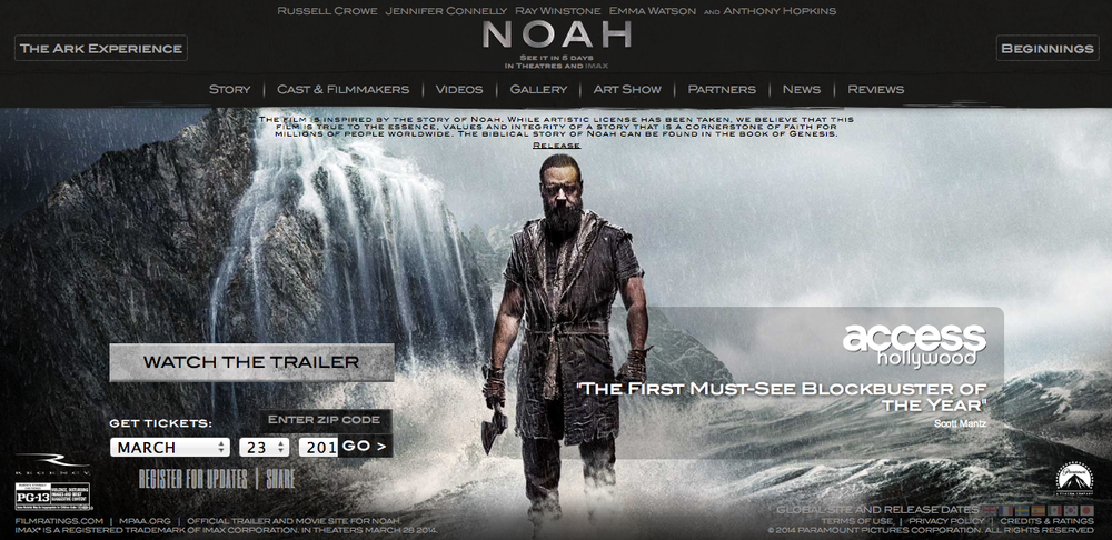 From the official Noah Movie website.
