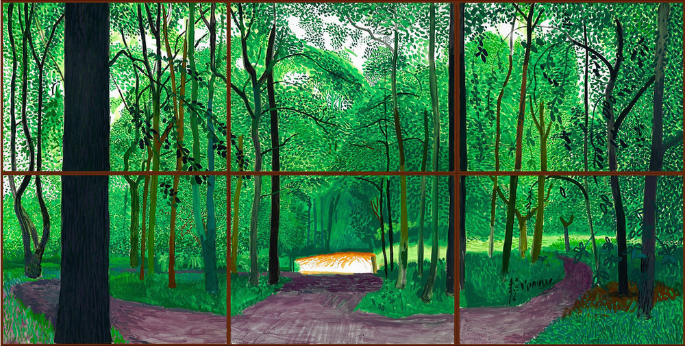"David Hockney, "" Woldgate Woods, 26, 27 & 30 July 2006"""