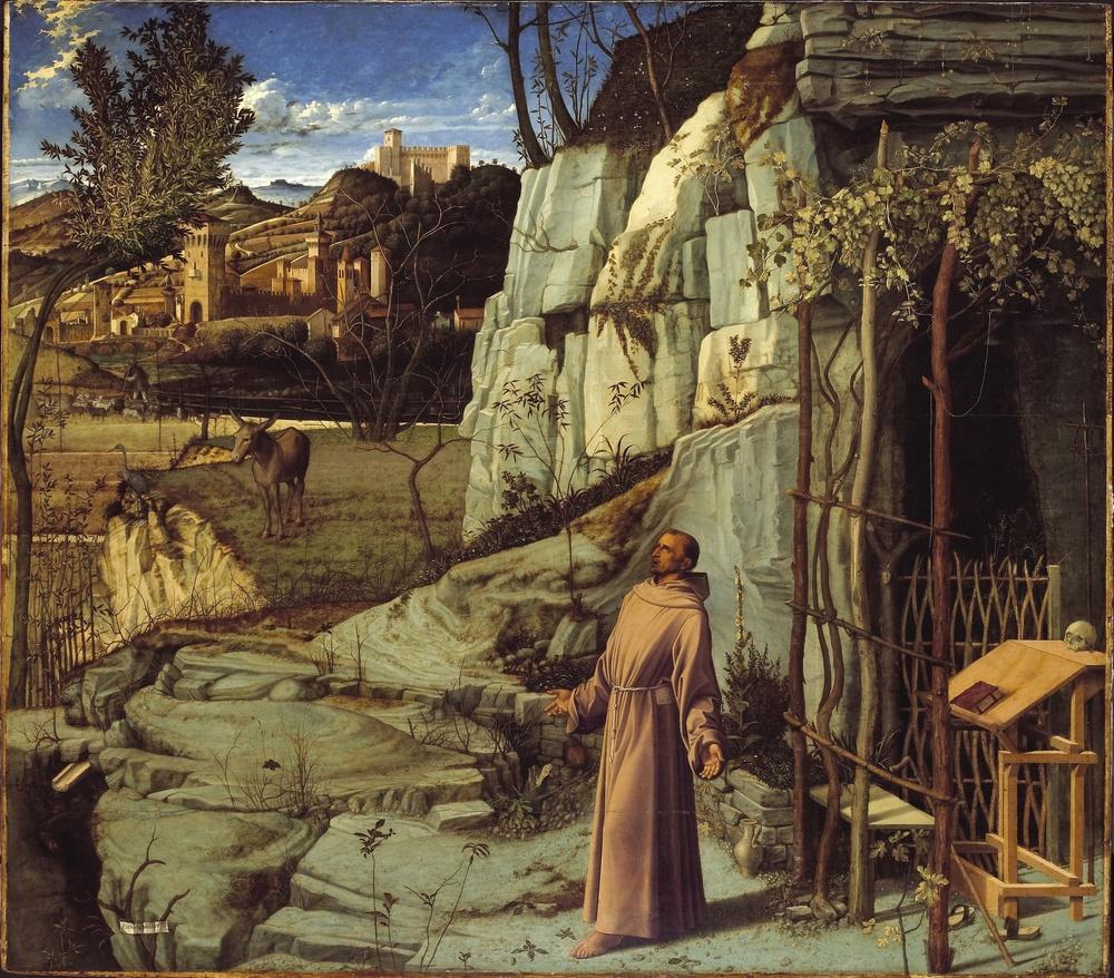 """Giovanni Bellini, """"St Francis in Ecstasy"""", ca. 1480"""